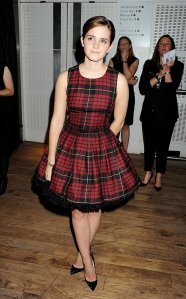 Emma-Watson-wore-McQ-plaid-dress-GQ-Men-Year-Awards