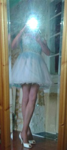New Pale Blue Prom Dress