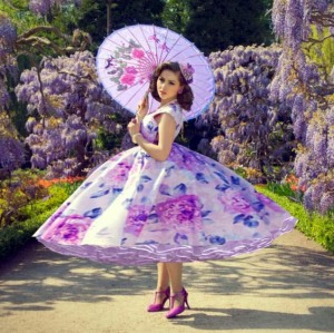 This dress would also match my wisteria!