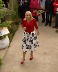 Nicki Chapman at the Chelsea Flower Show