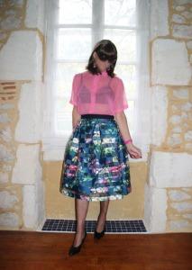 New Organza Box Pleated Skirt