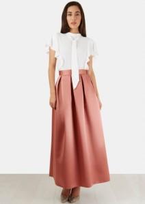 Long Box Pleated Skirt